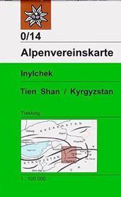 TIEN SHAN KIRGISTAN cz. zachodnia INYLCHEK mapa terkkingowa Alpenverein