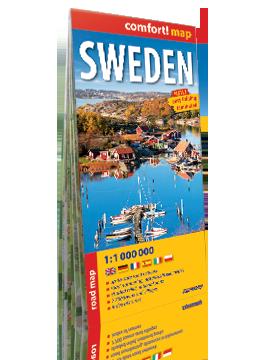 Szwecja laminowana mapa samochodowa  1:1 000 000 wersja angielska EXPRESSMAP 2019