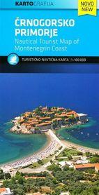 WYBRZEŻE CZARNOGÓRY mapa turystyczna 1:100 000 KARTOGRAFIJA