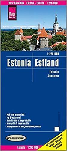 ESTONIA mapa 1:275 000 REISE KNOW HOW