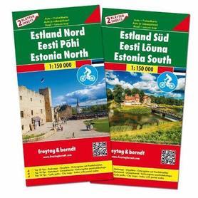 ESTONIA mapa turystyczna 2 arkusze 1:150 000 Freytag & Berndt