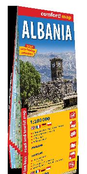 ALBANIA laminowana mapa drogowo-turystyczna 1:280 000 EXPRESSMAP 2019