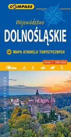 DOLNOŚLĄSKIE mapa atrakcji turystycznych 1:250 000 COMPASS 2019