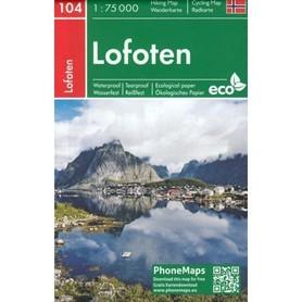 LOFOTY NORWESKIE mapa turystyczna 1:75 000 Freytag&Berndt