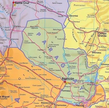 AMERYKA POŁUDNIOWA składana mapa polityczna 1:8 000 000 FREYTAG & BERNDT (2)