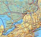 AMERYKA PÓŁNOCNA składana mapa polityczna 1:8 000 000 FREYTAG & BERNDT (3)