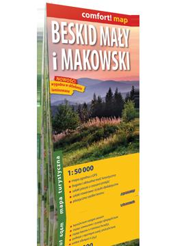 BESKID MAŁY I MAKOWSKI laminowana mapa turystyczna EXPRESSMAP 2019