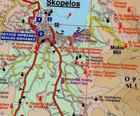SKOPELOS laminowana mapa turystyczna 1:40 000 NAKAS ROAD CARTOGRAPHY (3)
