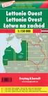 ŁOTWA ZACHODNIA I WSCHODNIA KOMPLET 2 MAPY ROWEROWE + INFORMATOR 1:150 000 FREYTAG & BERNDT (2)