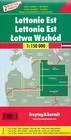 ŁOTWA ZACHODNIA I WSCHODNIA KOMPLET 2 MAPY ROWEROWE + INFORMATOR 1:150 000 FREYTAG & BERNDT (3)