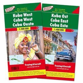 KUBA WSCHODNIA I ZACHODNIA KOMPLET 2 MAPY ROWEROWE + INFORMATOR 1:400 000 FREYTAG & BERNDT