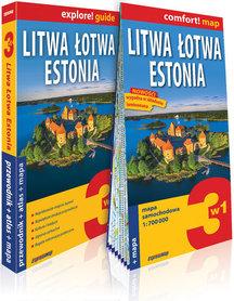 LITWA ŁOTWA ESTONIA 3w1 przewodnik + atlas + mapa EXPRESSMAP 2019