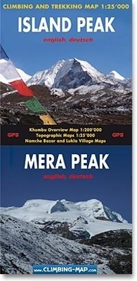 ISLAND PEAK / MERA PEAK mapa trekkingowa 1:25 000 CLIMBING
