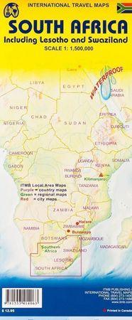 SOUTH AFRICA AFRYKA POŁUDNIOWA mapa 1:1 350 000 ITMB (3)