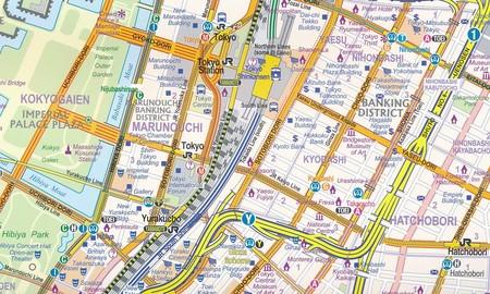 JAPONIA POŁUDNIOWA Railway & Road mapa wodoodporna 1:670 000 ITMB (2)
