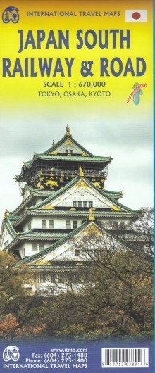 JAPONIA POŁUDNIOWA Railway & Road mapa wodoodporna 1:670 000 ITMB (1)