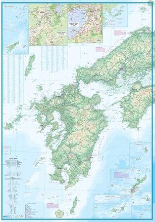 JAPONIA POŁUDNIOWA Railway & Road mapa wodoodporna 1:670 000 ITMB (3)