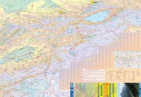 TADŻYKISTAN KIRGISTAN mapa 1:850 000  ITMB 2020 (2)