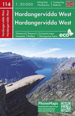 PARK NARODOWY HARDANGERVIDDA ZACHÓD wodoodporna mapa turystyczna 1:50 000 PHONEMAPS (1)