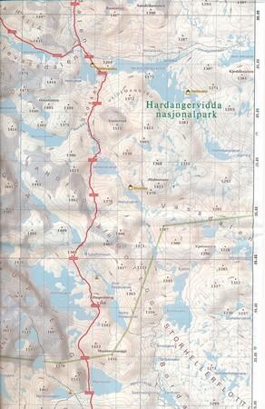 PARK NARODOWY HARDANGERVIDDA ZACHÓD wodoodporna mapa turystyczna 1:50 000 PHONEMAPS (3)