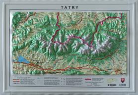 TATRY mapa plastyczna  1:200 000 BBKart