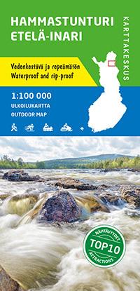 Hammastunturi, Etela-Inari wodoodporna mapa turystyczna 1:100 000 KARTTAKESKUS 2020