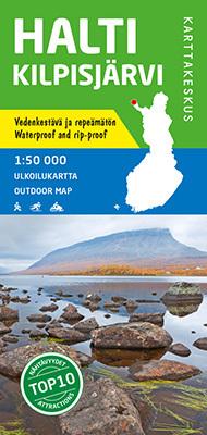 Halti Kilpisjarvi wodoodporna mapa turystyczna 1:50 000 KARTTAKESKUS