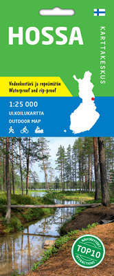 HOSSA wodoodporna mapa turystyczna 1:25 000 KARTTAKESKUS
