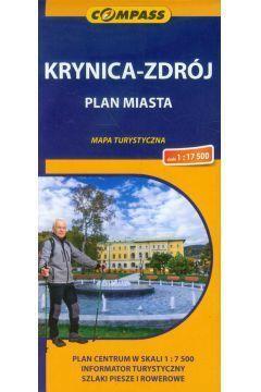 KRYNICA - ZDRÓJ plan miasta i okolice mapa turystyczna COMPASS