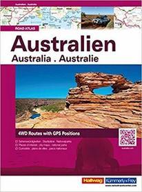 AUSTRALIA atlas samochodowy HALLWAG