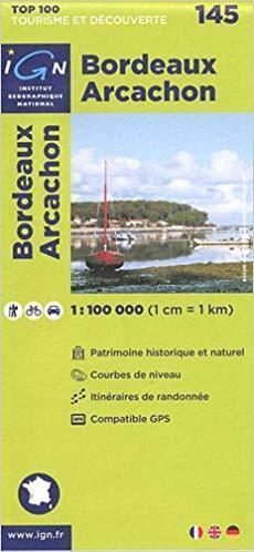 145 BORDEAUX - ARCACHON mapa okolic 1:100 000 IGN 2011