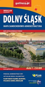 DOLNY ŚLĄSK mapa samochodowo - administracyjna 1:250 000 PLAN