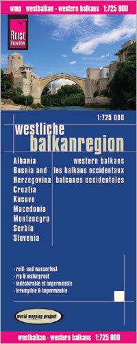 BAŁKANY ZACHODNIE Albania Bośnia i Hercegowina Chorwacja Kosowo Macedonia Czarnogóra Serbia Słowenia mapa 1:725 000 REISE KNOW HOW