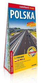 POLSKA 1:750 000 laminowana mapa samochodowa EXPRESSMAP 2020