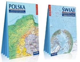 ŚWIAT I POLSKA XXL składana mapa laminowana EXPRESSMAP