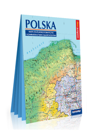 POLSKA mapa ogólnogeograficzna i administracyjno-samochodowa, 1:1 000 000 EXPRESSMAP