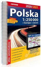 POLSKA ATLAS samochodowy 1:250 000 + EUROPA 2020/2021 EXPRESSMAP
