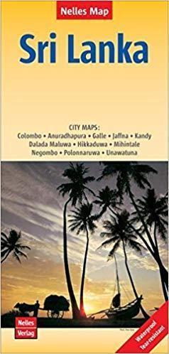 SRI LANKA mapa samochodowa wodoodporna 1:500 000 NELLES 2019