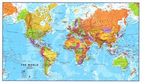 ŚWIAT POLITYCZNY PODKŁADKA POD MYSZ / PODKŁADKA NA BIURKO MAPS INTERNATIONAL