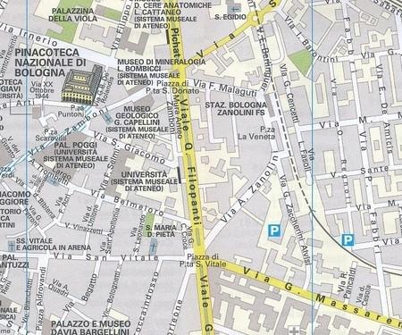 BOLONIA kieszonkowy plan miasta 1:10 000 TOURING EDITORE (2)
