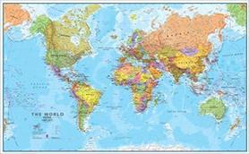 ŚWIAT polityczna mapa ścienna 198 x 123 cm 1:20 000 000 Maps International