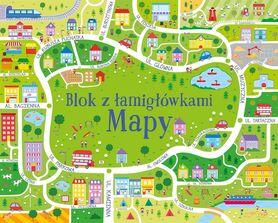 Blok z łamigłowkami MAPY wyd. Olesiejuk