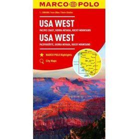 USA ZACHÓD mapa samochodowa 1:2 000 000 MARCO POLO
