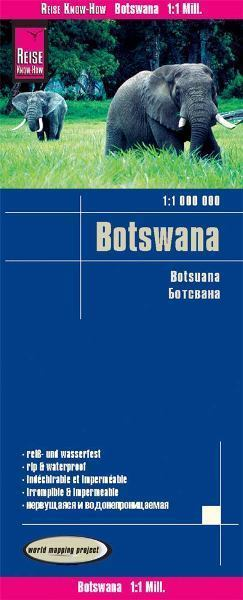 BOTSWANA mapa 1:1 000 000 REISE KNOW HOW 2019
