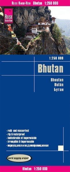 BHUTAN mapa samochodowa 1:250 000 REISE KNOW HOW 2019