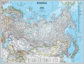 ROSJA mapa ścienna w tubie NATIONAL GEOGRAPHIC