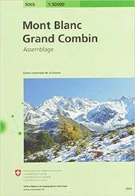 Mont Blanc - Grand Combin 1:50 000 SWISSTOPO