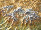 NEPAL mapa plastyczna w ramie 1:1 150 000 GEORELIEF (2)