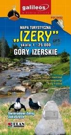 GÓRY IZERSKIE IZERY mapa turystyczna papierowa 1:25 000 PLAN 2017