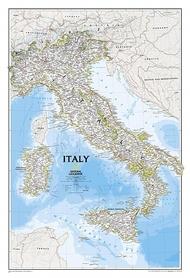 WŁOCHY mapa ścienna w tubie NATIONAL GEOGRAPHIC